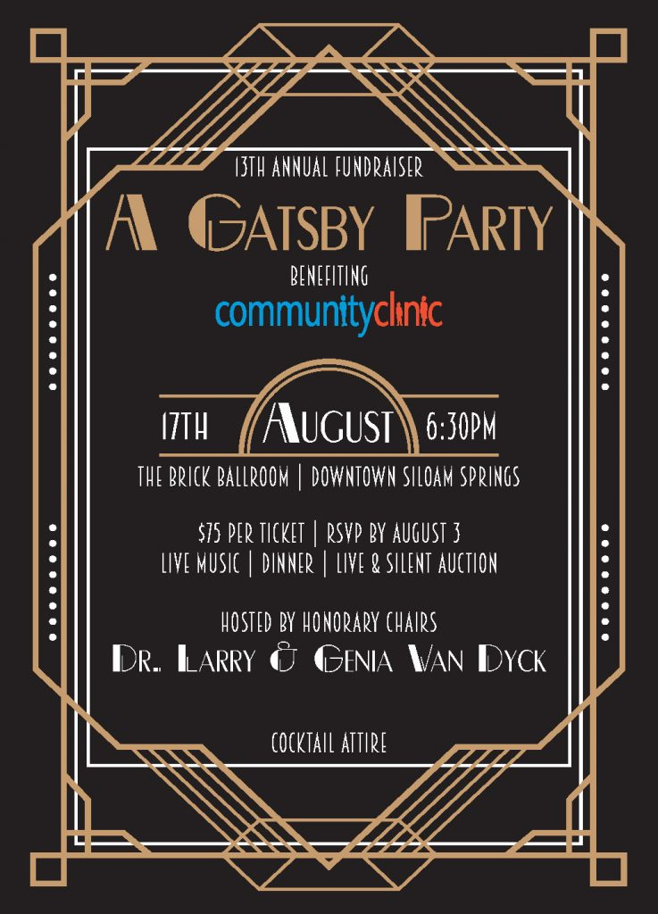 A Gatsby Party | Invitation Front